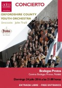 CONCIERTO THE OXFORDSHIRE COUNTY YOUTH ORCHESTRA EN BODEGAS PROTOS