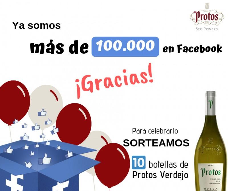 Sorteo 100.000 seguidores en Facebook de Bodegas Protos