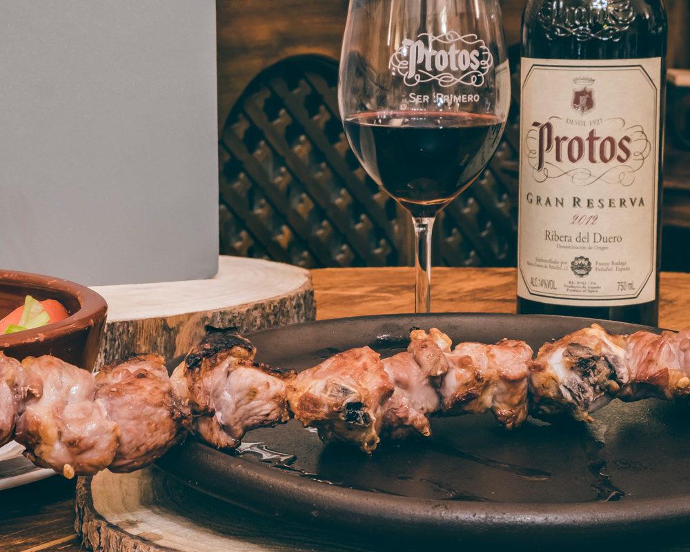 #Gastroprotos Protos Maridaje Pincho de Lechazo