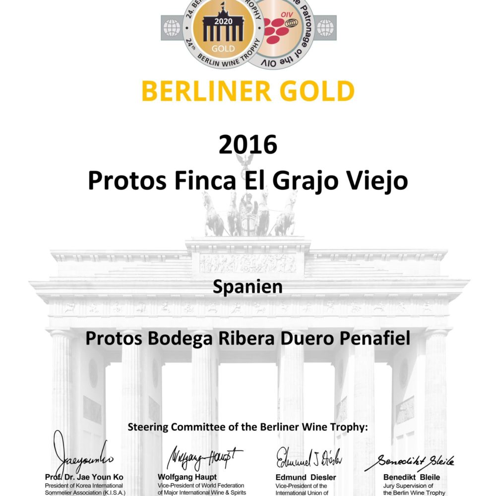 Medalla de Oro Berliner Wine Trophy
